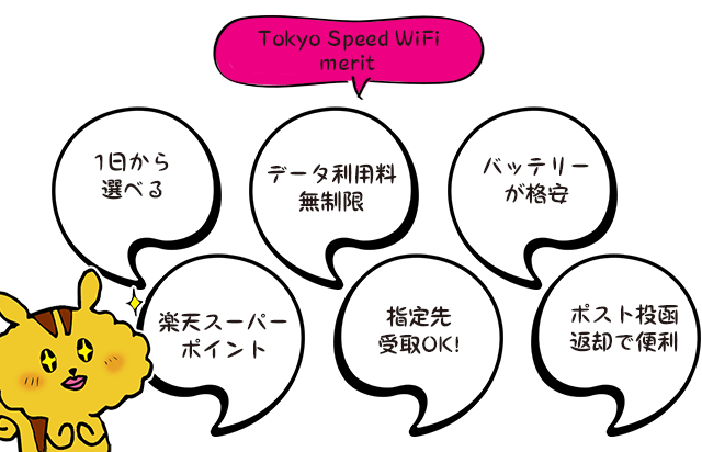 tokyo speed wifiのメリット