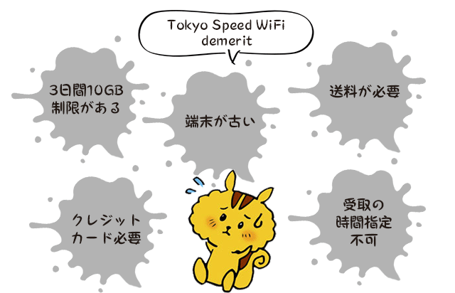 tokyo speed wifiのデメリット