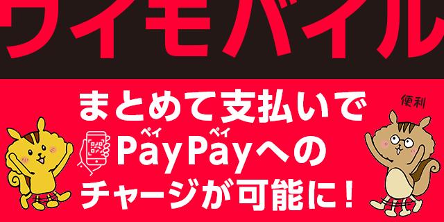 2019年7月31日より、ワイモバイル「まとめて支払い」でPayPayへのチャージが可能に!