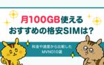 [関連記事]月100GB使えるおすすめの格安SIMは?|料金や速度から比較したレンタルSIMサービス6選のサムネイル