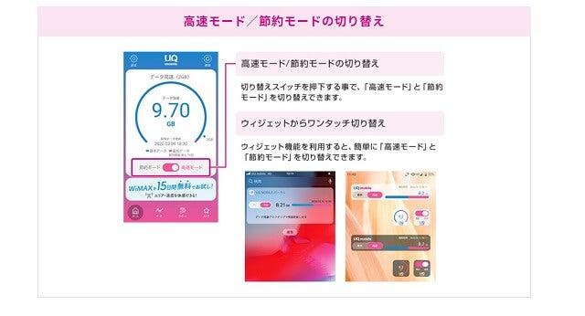 UQモバイルポータルアプリの説明