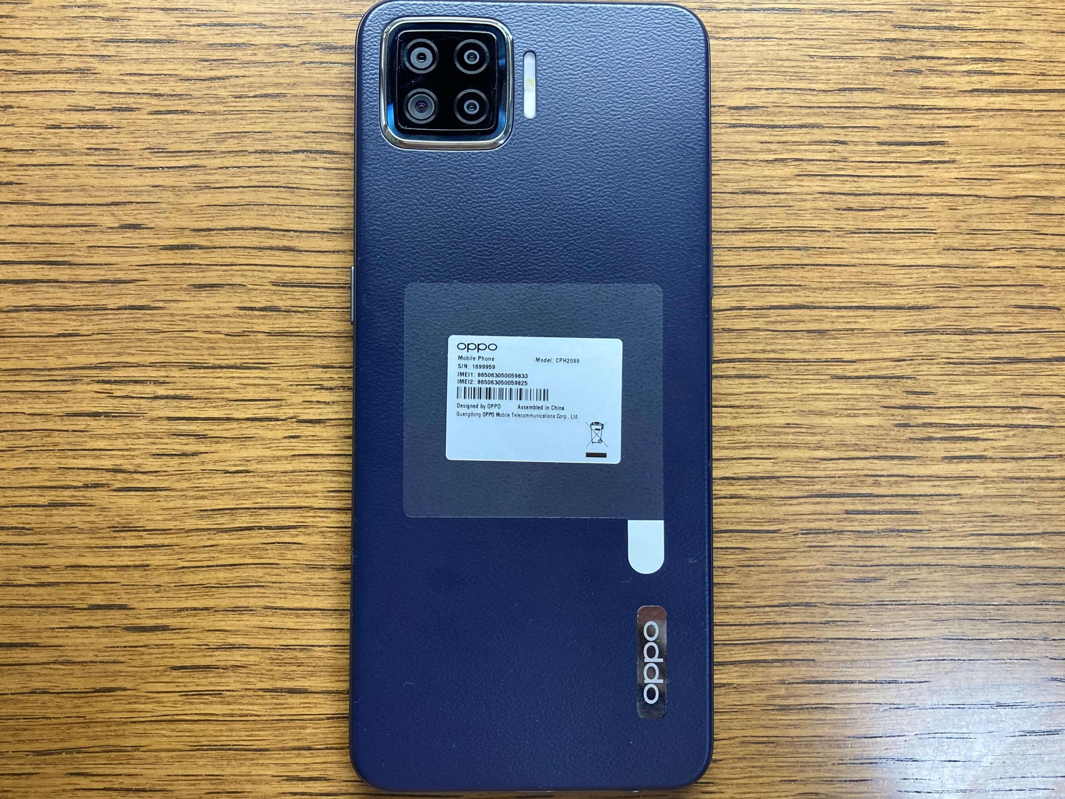 OPPO A73の4眼カメラ