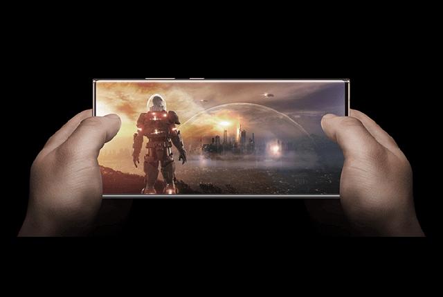 Galaxy Note20 Ultra 5Gのディスプレイ