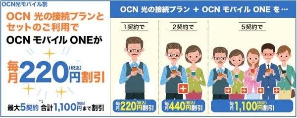 OCN光モバイル割 | OCN モバイル ONE | NTTコミュニケーションズ 個人のお客さま