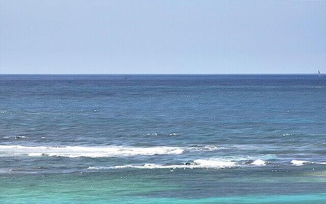 Galaxy S21 Ultra 5Gで撮った海の写真(10倍モード)