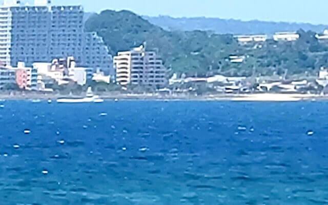 Galaxy S21 5Gで撮った海の写真(30倍)