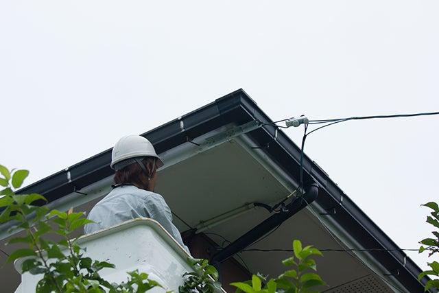 光回線の屋外工事イメージ