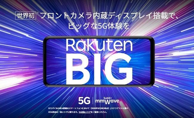 楽天モバイルのRakuten BIG