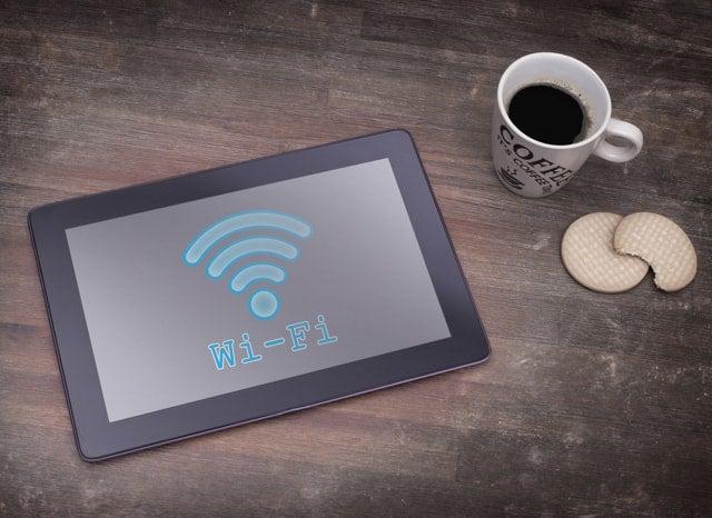 Wi-Fiに繋がっているタブレット
