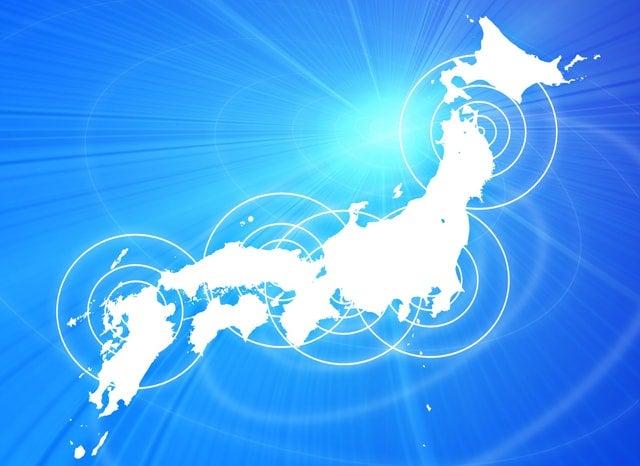 日本列島がネットに繋がっているイメージ