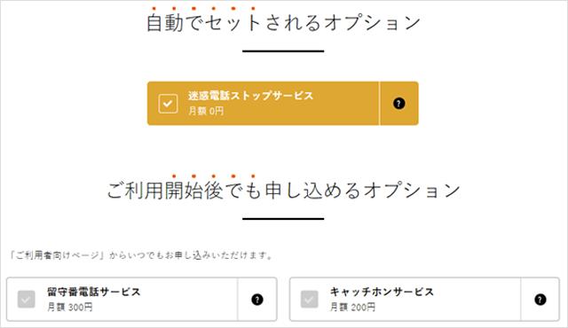 nuroモバイルお申し込み手順その6 オプション選択2