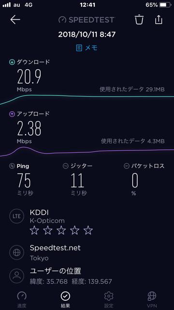 スピードテストmineo8-9時