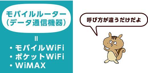 ポケットWiFi・モバイルルーター・モバイルWiFi・WiMAXって何が違うの?