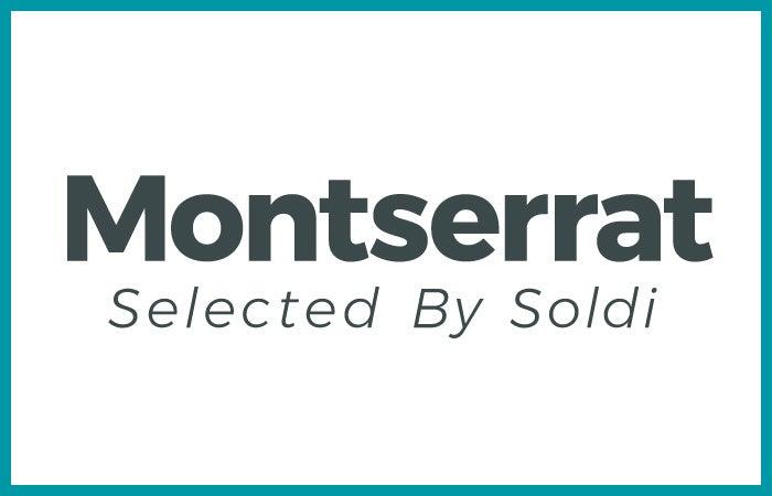 少し平体がかったタイプフェイスの「Montserrat」