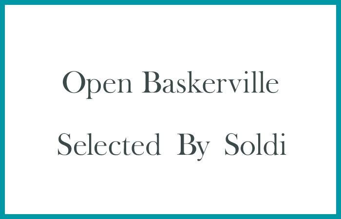 英国的なデザインをしたい時におすすめな「Open Baskerville」
