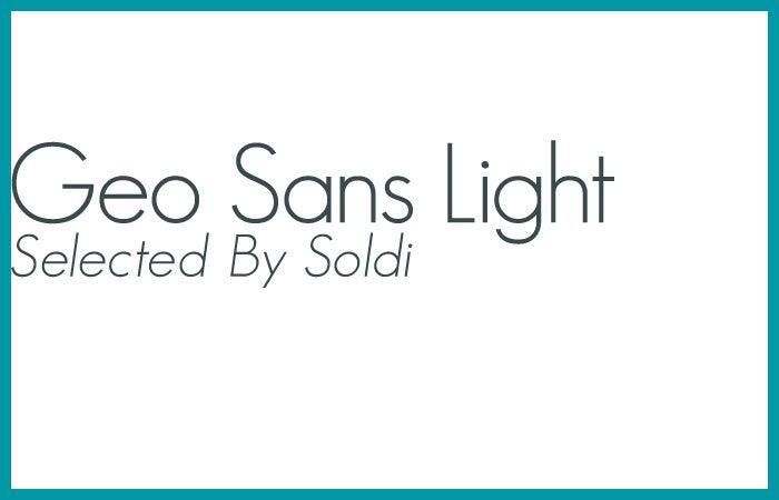 Futuraによく似たお洒落なフォント「Geo Sans Light」