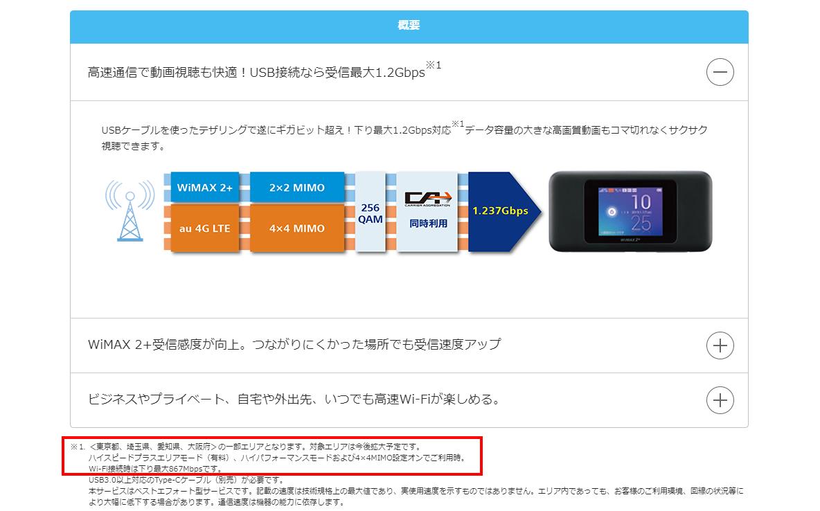 画像引用:Speed Wi-Fi NEXT W06|UQ WiMAX